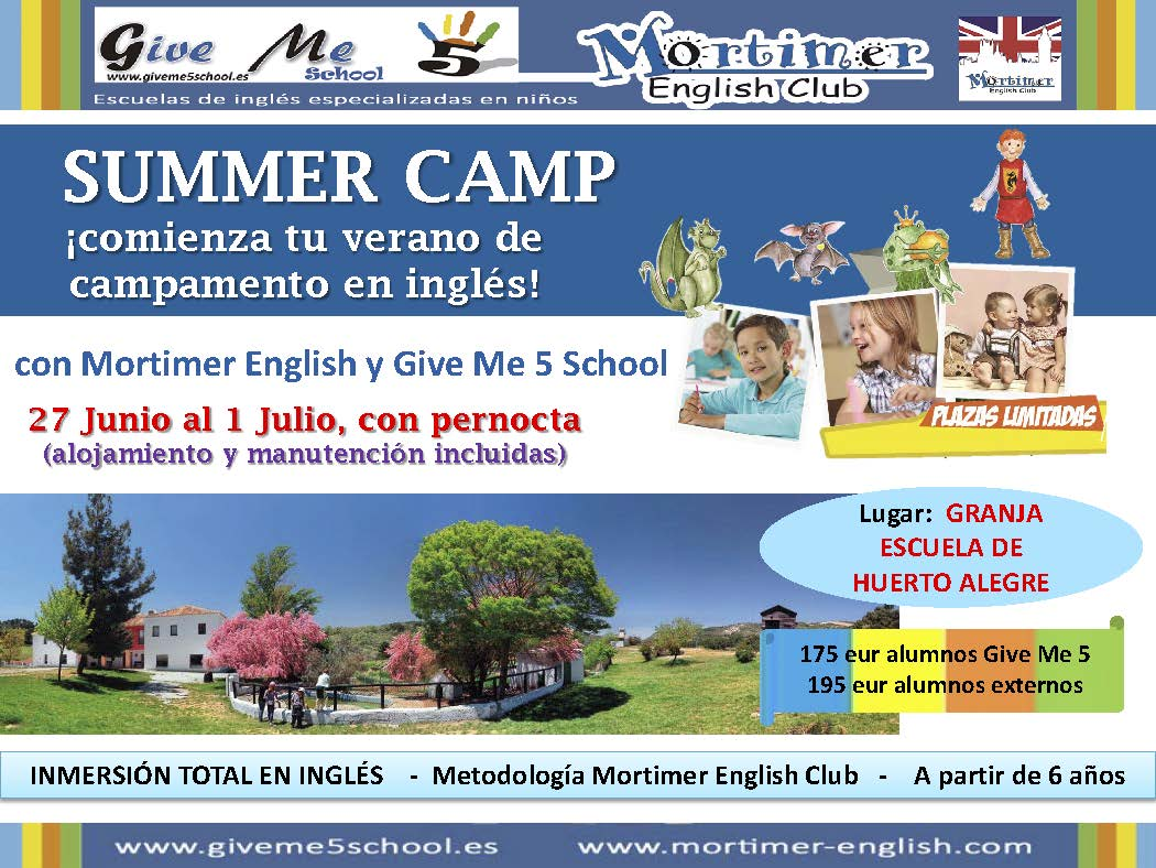 Flyer Summer Camp Granja Escuela 2016